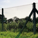 Chainlink concrete fence post