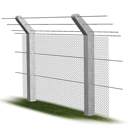 Chain top concrete fence post