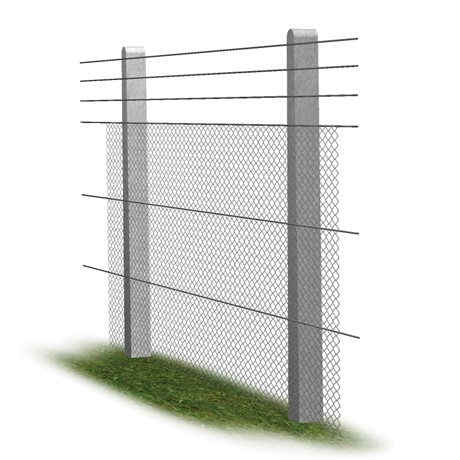 Straight Extended Top concrete fence post