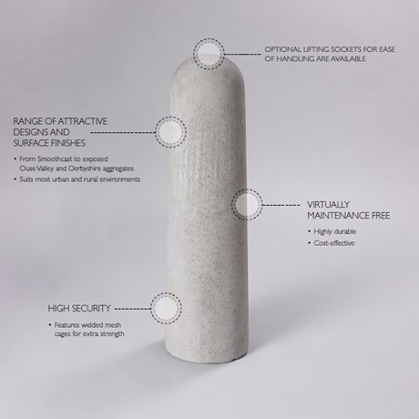 Concrete bollard product features